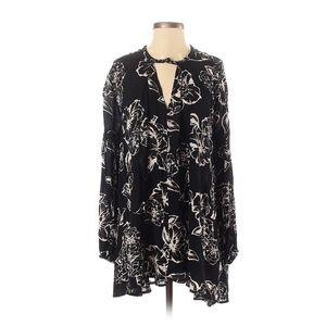 Free People black floral dress size m